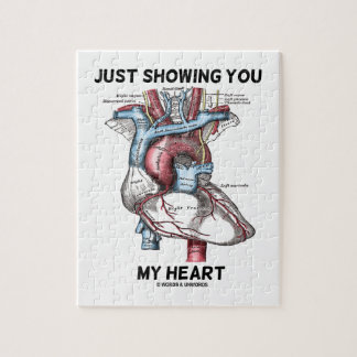 Just Showing You My Heart (Anatomical Heart) Jigsaw Puzzle