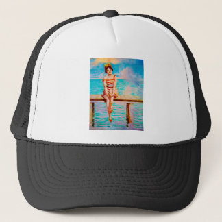 JUST SITTIN ON THE DOCK OF THE BAY TRUCKER HAT