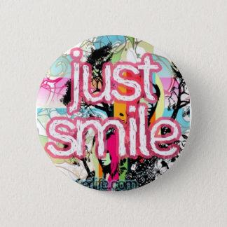 just smile 2 inch round button