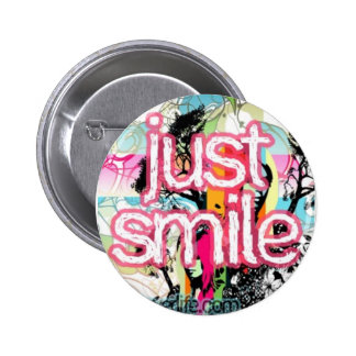 just smile 2 inch round button