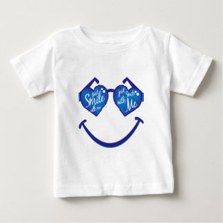 just smile with me, love and glases baby T-Shirt