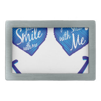 just smile with me, love and glases belt buckles