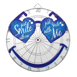 just smile with me, love and glases dartboard