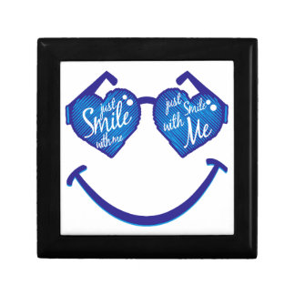 just smile with me, love and glases gift box