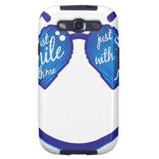 just smile with me, love and glases samsung galaxy s3 cases