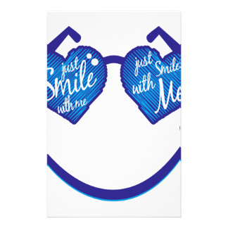 just smile with me, love and glases stationery