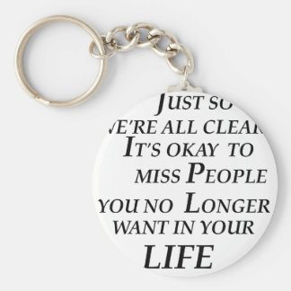 just so we're all clean  it's  okay   to  miss peo basic round button keychain