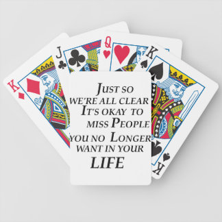 just so we're all clean  it's  okay   to  miss peo bicycle playing cards