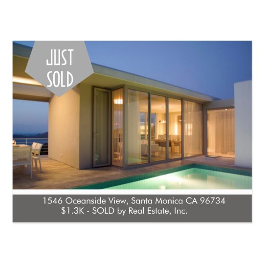 JUST SOLD  Real Estate postcard