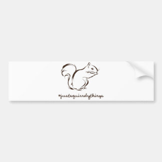 Just Squirrely Things Squirrel Bumper Sticker