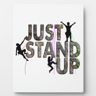 Just Stand Up Plaque