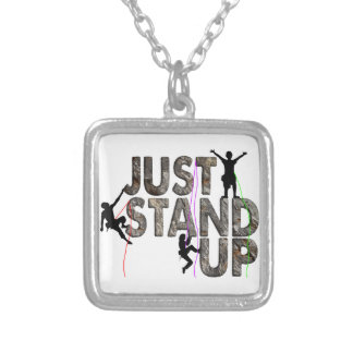 Just Stand Up Silver Plated Necklace