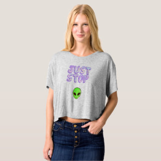 Just Stop Alien Crop Top