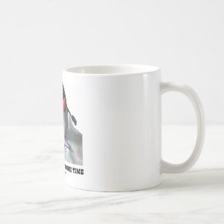 Just Surfin' Through Time (Duke On Surfboard) Coffee Mug