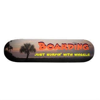 Just Surfin' with Wheels Custom Skateboard