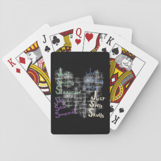 Just Surviving Sucks Satire Playing Cards