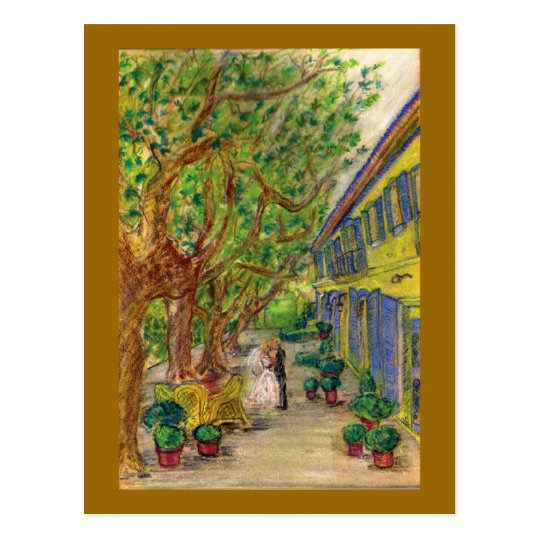 Just the Two of Us (Wedding art) Postcard