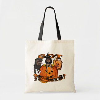Just Too Cute Rottweiler Puppy Accompanied by Papa Budget Tote Bag