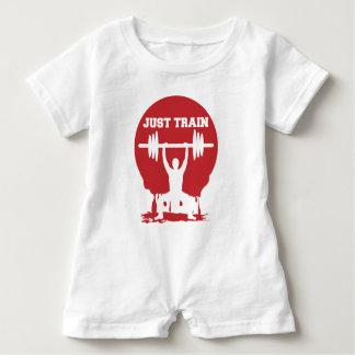 Just train baby romper
