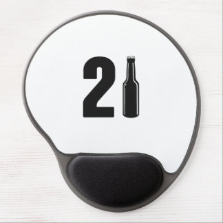 Just Turned 21 Beer Bottle 21st Birthday Gel Mouse Pad