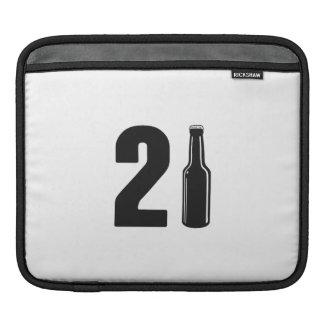 Just Turned 21 Beer Bottle 21st Birthday iPad Sleeve