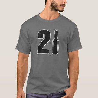 Just Turned 21 Beer Bottle 21st Birthday T-Shirt