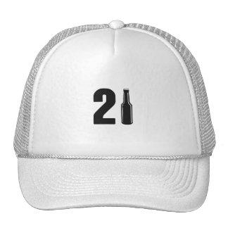 Just Turned 21 Beer Bottle 21st Birthday Trucker Hat