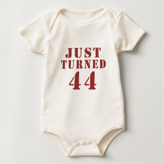 JUST TURNED 44 BABY BODYSUIT