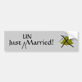 Just  UN-Married - bumper sticker