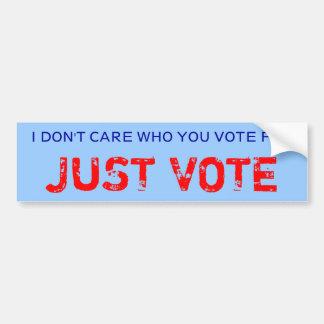 JUST VOTE bumper sticker