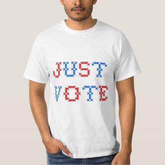 Just Vote Cross Stitch T-Shirt