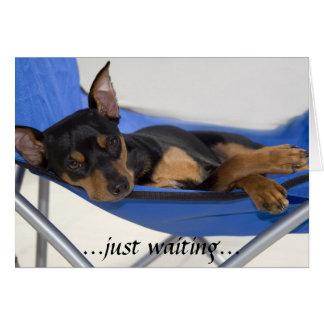 just waiting card