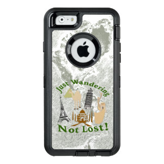 Just Wandering Not Lost Design OtterBox Defender iPhone Case