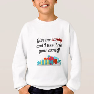 Just Want Candy Halloween Design Sweatshirt