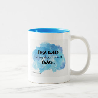 Just Write Mug Design