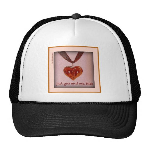 """just you and me, babe"" hat"