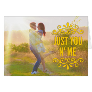 """Just You N' Me"" Loving Couple Gift Card"