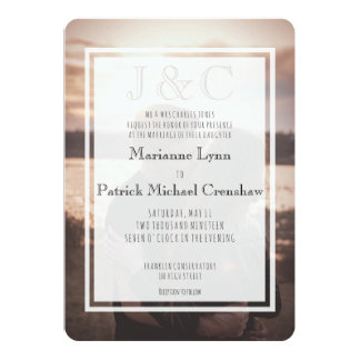 Just You Two Photo Destination Wedding Card