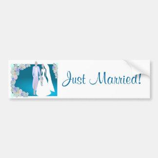 Juste adhésif pour pare-chocs marié autocollant de voiture