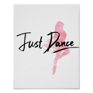 Juste affiche de danse (blanche)
