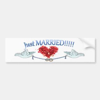 Juste autocollant marié d'anneaux de mariage de co autocollant de voiture