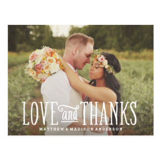Juste carte postale l'épousant mariée de Merci de