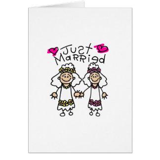 Juste lesbiennes mariées carte de vœux