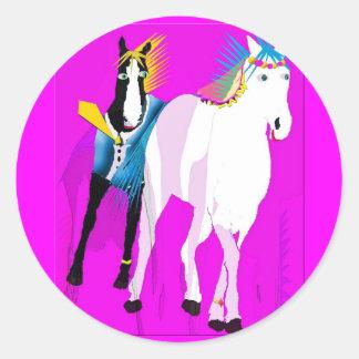 Juste marié - collection lunatique de cheval adhésif