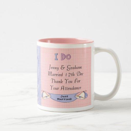 Juste marié mugs à café
