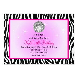 Juste partie de diva de disco de danse carton d'invitation  12,7 cm x 17,78 cm
