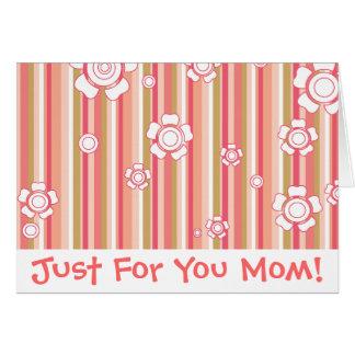 Juste pour vous maman ! carte de vœux