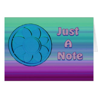 juste un bleu et un pourpre de note cartes de vœux
