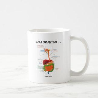 Juste un sentiment d intestin… Humour d appareil Tasse À Café