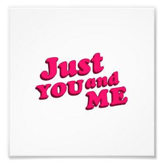 Juste vous et moi conception typographique de photographie d'art